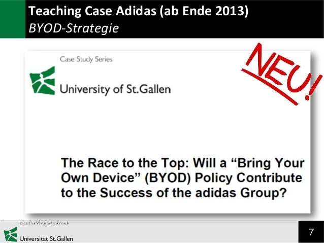 7 Teaching Case Adidas (ab Ende 2013) BYOD-Strategie
