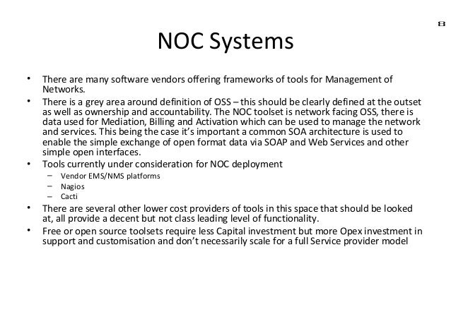 7 NOC Systems; 8.  Noc Template