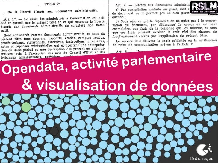 tivité parlementaireOpendata, ac  & visualisation de données