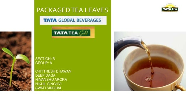 PACKAGED TEA LEAVES  SECTION: B GROUP: 8 CHITTRESH DHAWAN DEEP DAGA HIMANSHU ARORA NIKHIL SINGHVI SWATI SINGHAL