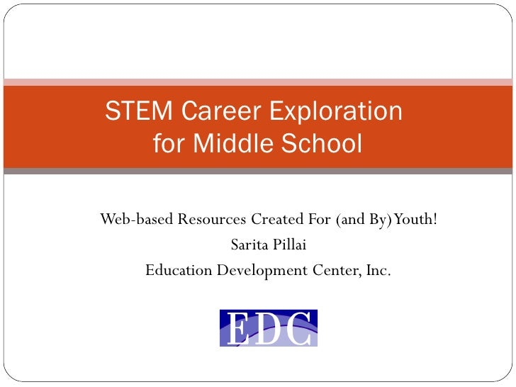 Web-based Resources Created For (and By) Youth! Sarita Pillai Education Development Center, Inc. STEM Career Exploration  ...
