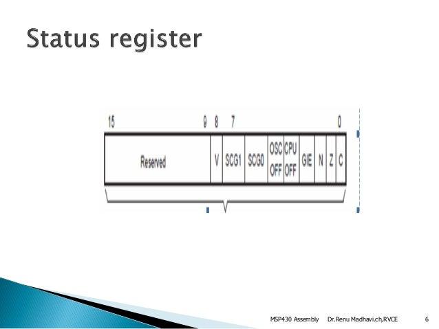 Msp430 assembly language instructions &