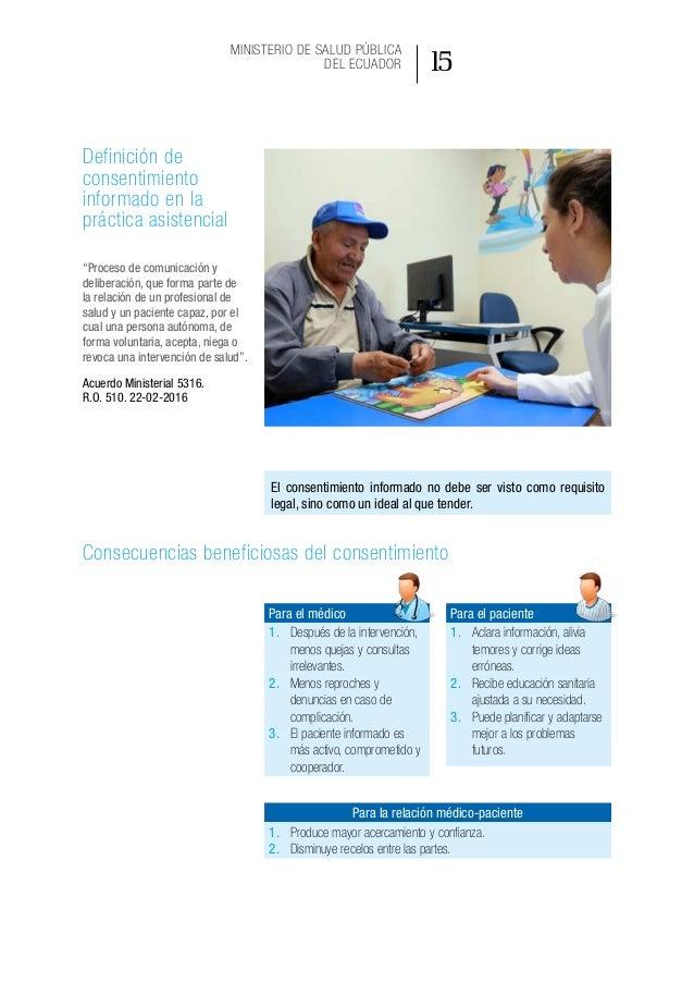 Modelo de gestión de aplicación del consentimiento informado en la práctica asistencial 20
