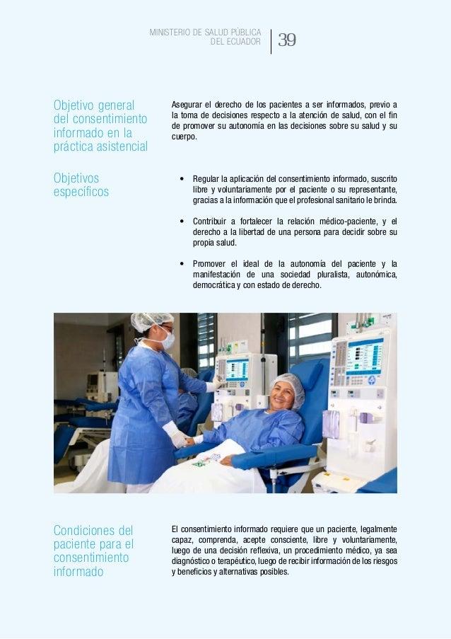 47 Ministerio de Salud Pública del Ecuador Rechazo de un procedimiento Cuando un paciente rechaza una intervención no sign...