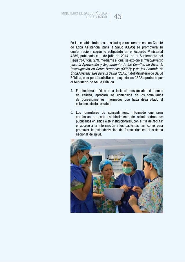 53 Ministerio de Salud Pública del Ecuador 22. DECLARACIÓN DE CONSENTIMIENTO INFORMADO Fecha:________ Hora: ________ He fa...