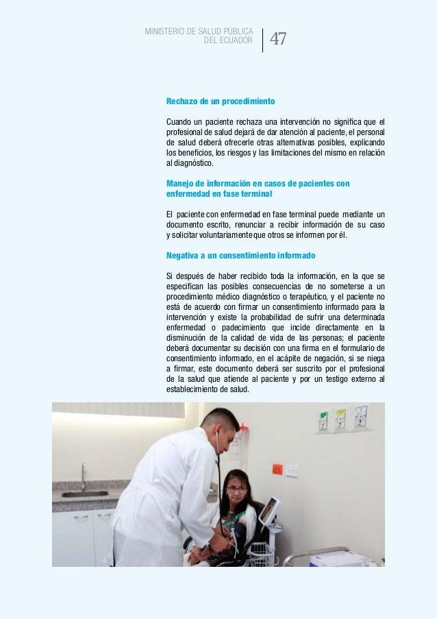 55 Ministerio de Salud Pública del Ecuador Revocatoria del consentimiento informado 24.En el acápite de revocatoria,el pa...