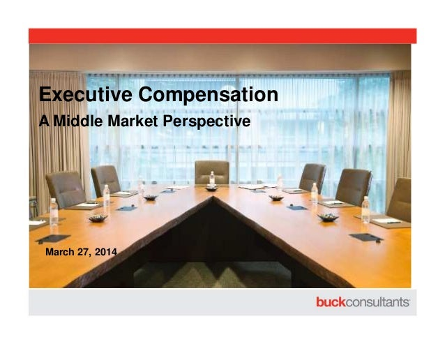 A Middle Market Perspective Executive Compensation March 27, 2014