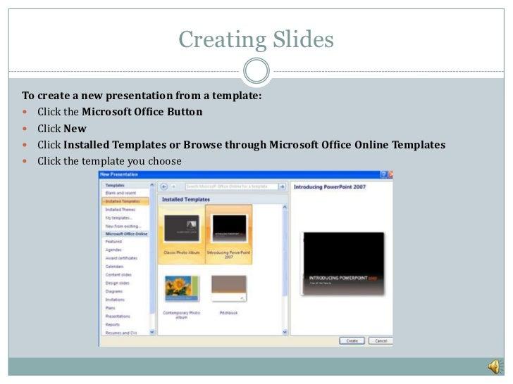 ms powerpoint, Presentation templates