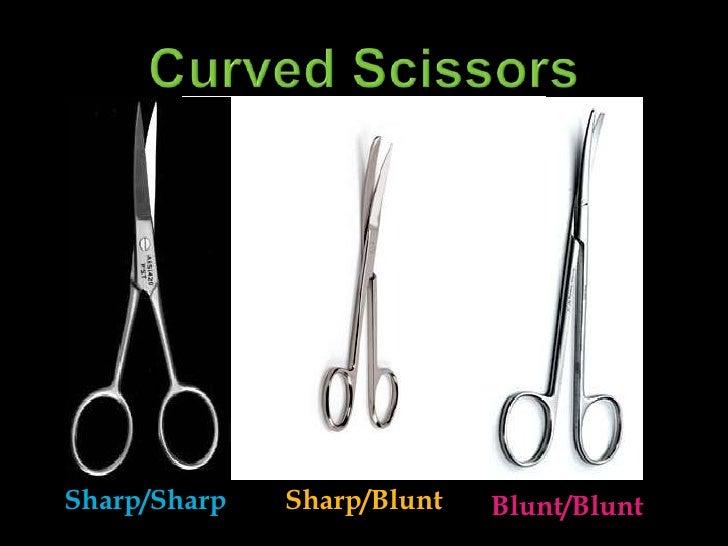 Curved Scissors<br />Sharp/Sharp<br />Sharp/Blunt<br />Blunt/Blunt<br />