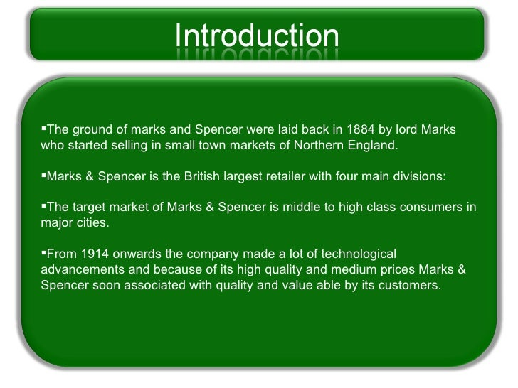 marks and spencer s value chain Mark and spencer  the essay explains what the important parts of marks and spencer's  the value chain is analysed to explain m &amp s's competitive.