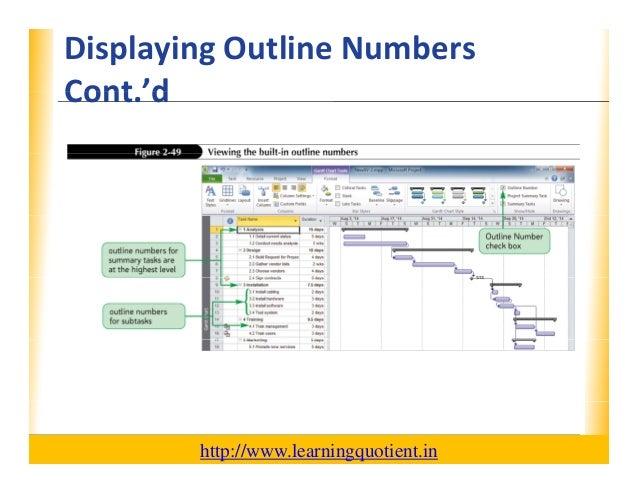 ms project 2010 tutorial pdf
