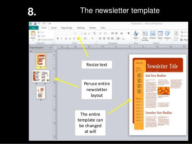Ms Publisher How To Create A Newsletter - How to make a newsletter template