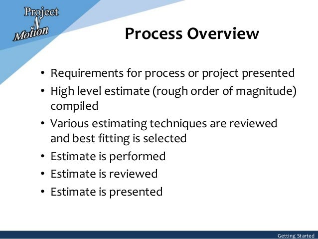 Project estimating process pronofoot35fo Gallery