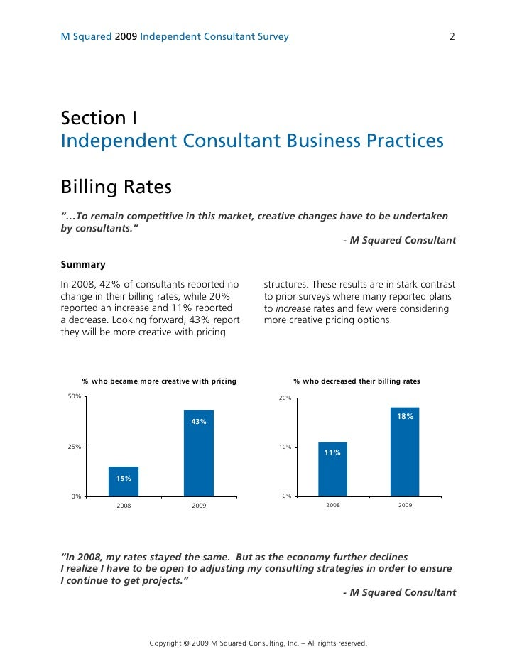 how to write a report as a consultant