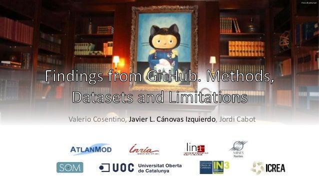 Valerio Cosentino, Javier L. Cánovas Izquierdo, Jordi Cabot Flickr/BenNuttall