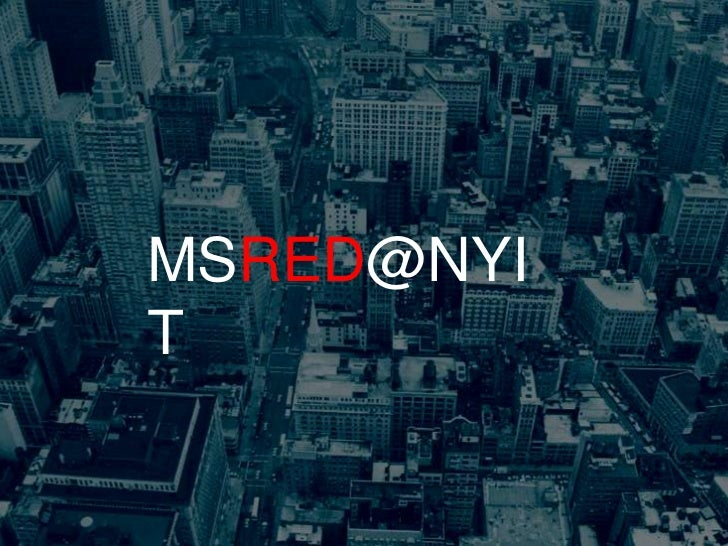 MSRED@NYIT