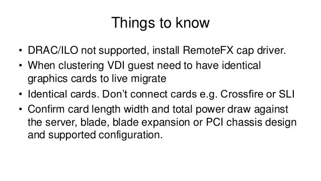 Microsoft RDS, VDI, RemoteFX and what Service Pack 1 will bring us