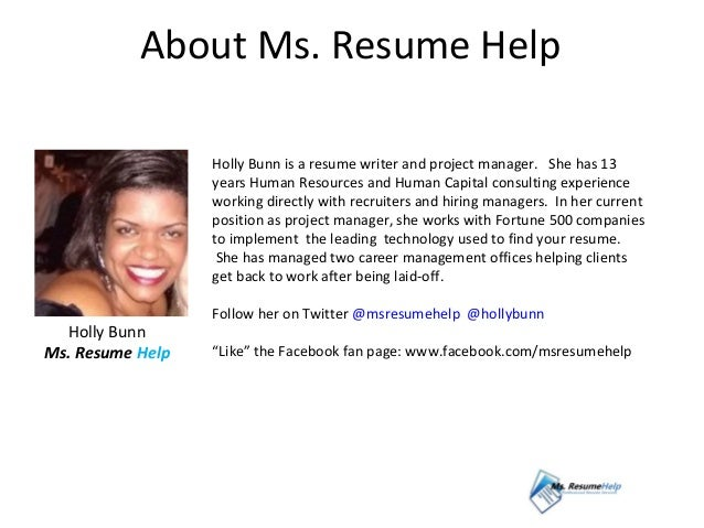 resume writing and job search tips