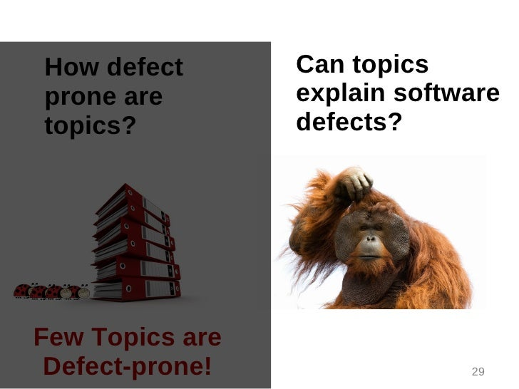 How defect       Can topicsprone are        explain softwaretopics?          defects?Few Topics are Defect-prone!         ...