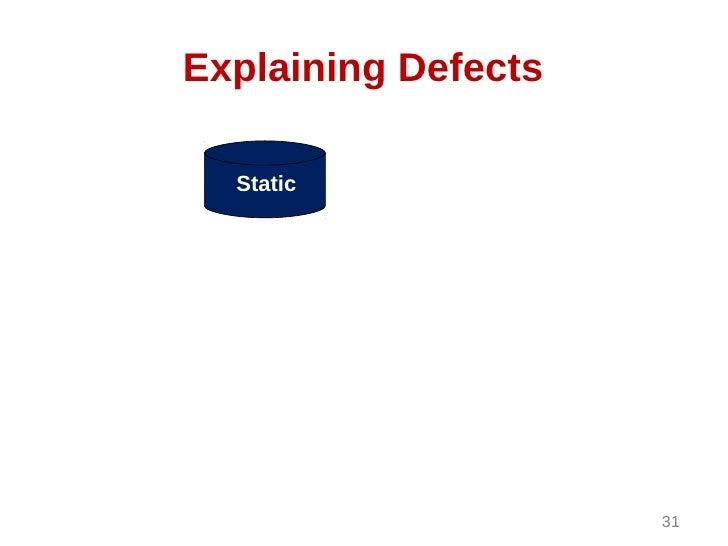 Explaining Defects  Static                     31