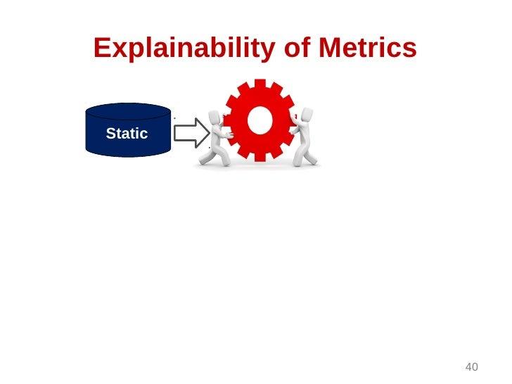 Explainability of MetricsStatic                            40