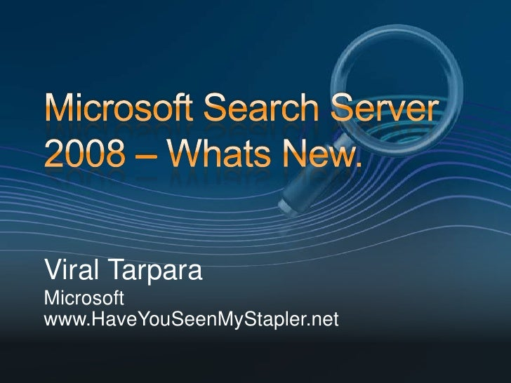 Microsoft Search Server 2010 Express - MS SharePoint ...