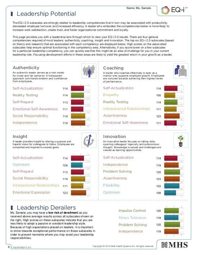 qualitive sample of leadership report pdf