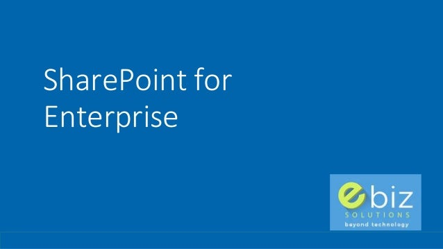 SharePoint for Enterprise