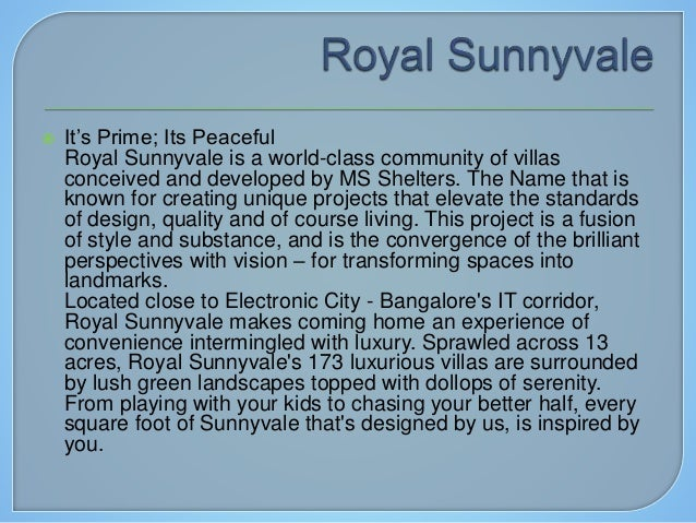Exclusive Spacious Villas for Sale @ Chandapura Slide 2