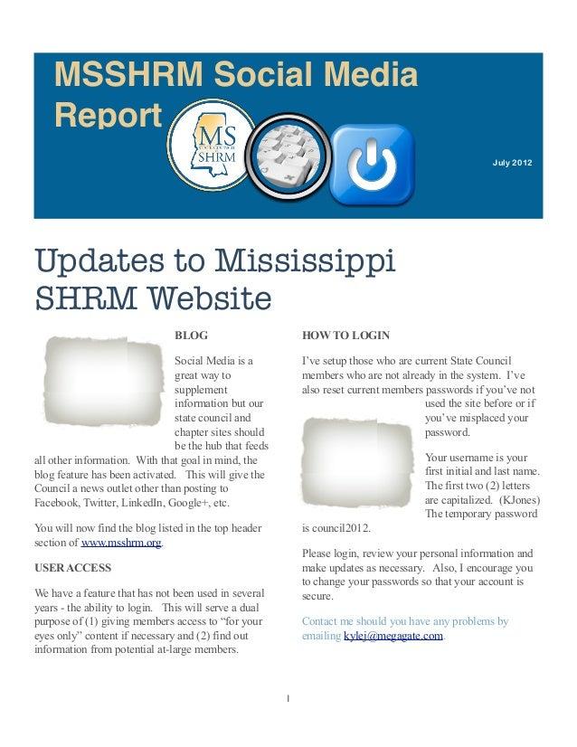 MSSHRM Social Media    Report                                                                                             ...