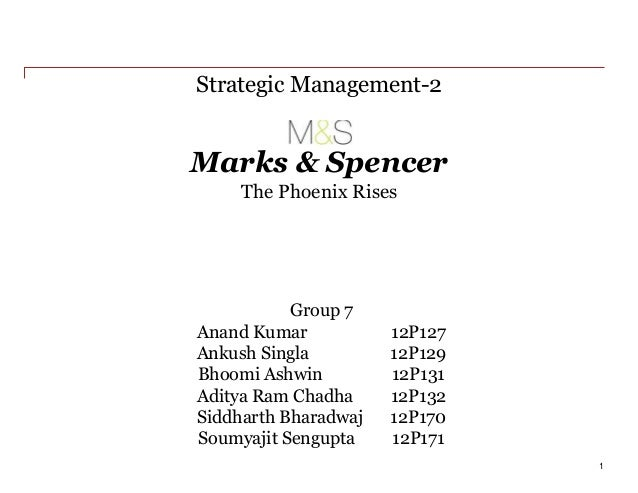 Strategic Management Assignment help on – MARKS & SPENCER'S