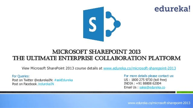 Webinar: Microsoft SharePoint-The Ultimate Enterprise