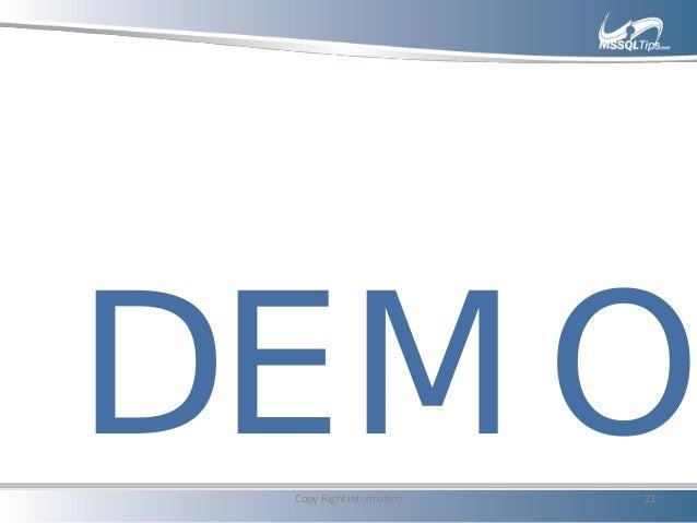 DEMOCopy Right Information 21