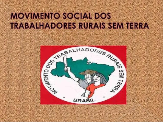 O QUE É UM MOVIMENTO SOCIAL?•São ações coletivas de caráter sociopolítico, construídaspor pessoas de diferentes classes e ...