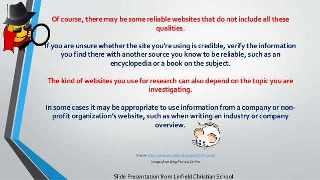 what are some credible websites