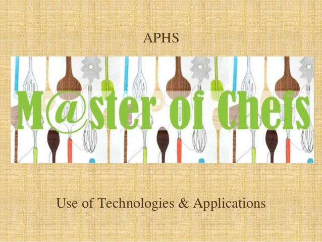 APHS Use of Technologies & Applications