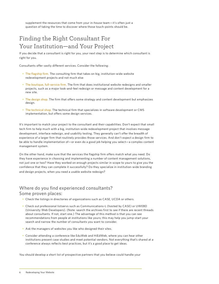 redeveloping your website asking the right questions finding the ri   6 supplement