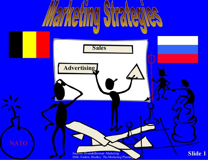 Marketing Strategies NATO Sources: Evans&Berman :Marketing Dibb, Simkin, Bradley: The Marketing Planning Advertising Sales