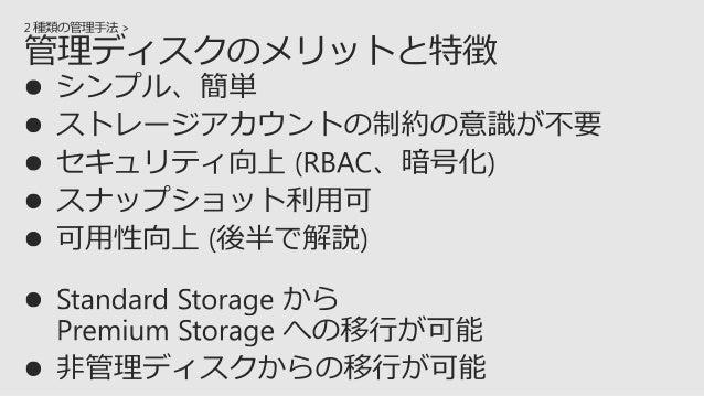  管理ディスクはサポートしない  Premium Storage はサポートしない プライマリ リージョン 例)西日本リージョン セカンダリ リージョン 例)東日本リージョン 非同期 レプリケート 読み取り