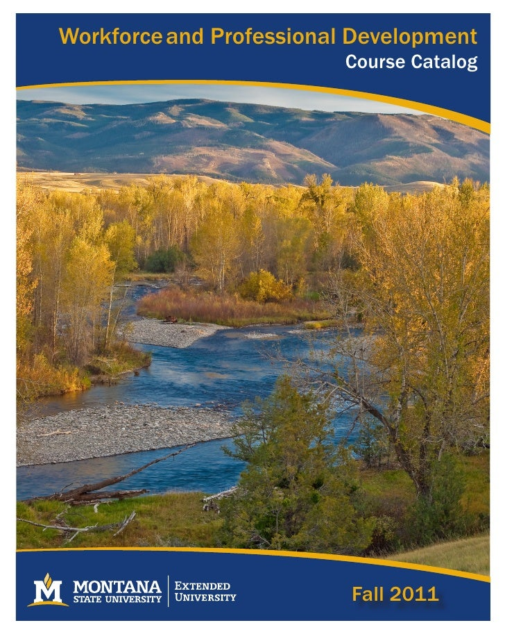 Workforce and Professional Development                         Course Catalog                          Fall 2011          ...