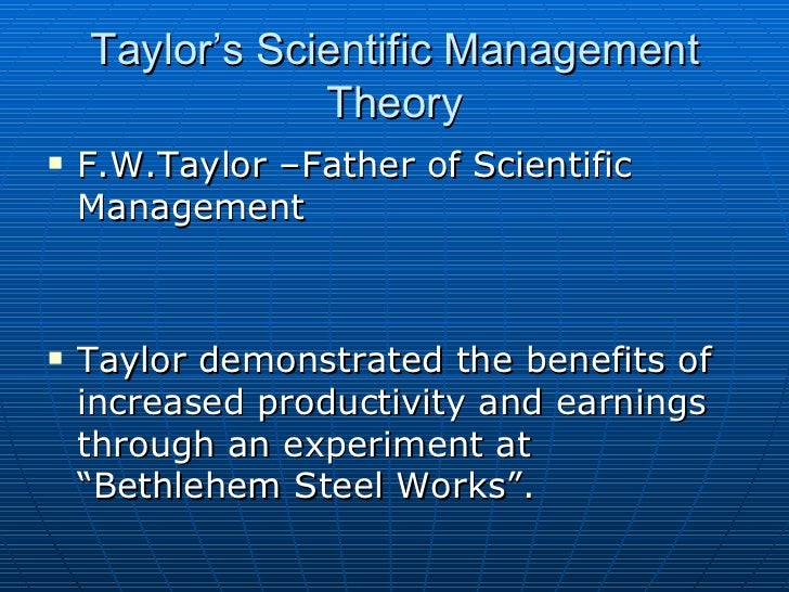 what are the advantages and disadvantages of f w taylor s scientific management theory We will discuss how these theories work and apply to effectiveness of organizational communication what is theory understand fredrick taylor's scientific management what are some of the advantages and disadvantages of these theories in this case study.