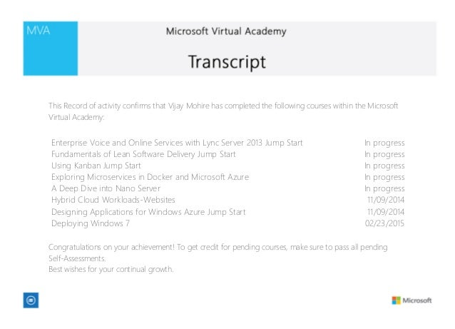Ms virtual academy transcript - Dive jump reporting system ...