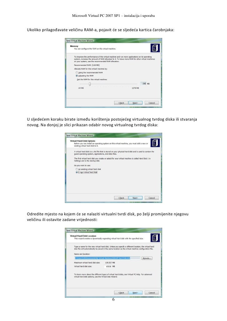 Virtual PC 2007 SP1 do not work on Windows 10 version 32 bit