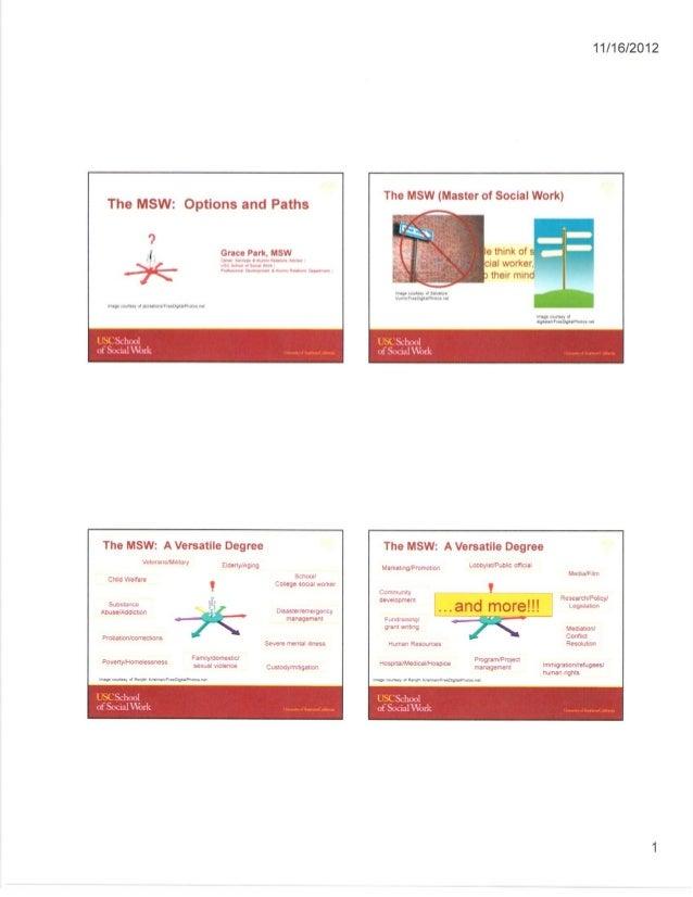 MSW Career Options Presentation