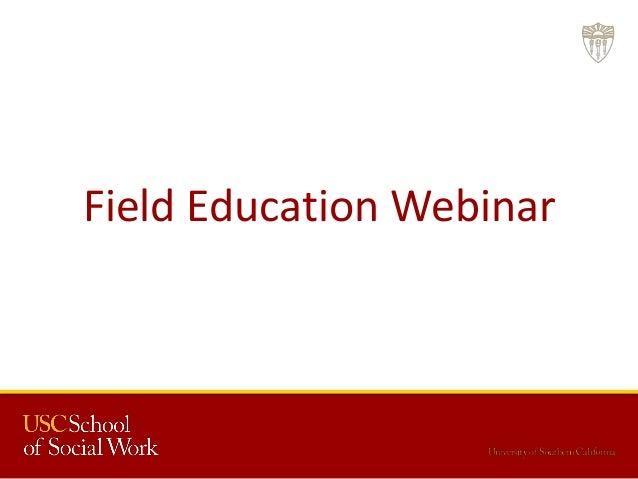 Field Education Webinar
