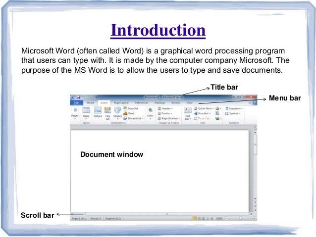Ms word presentation ppt