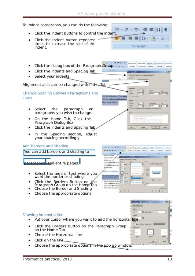 ms word 2007 practical notes