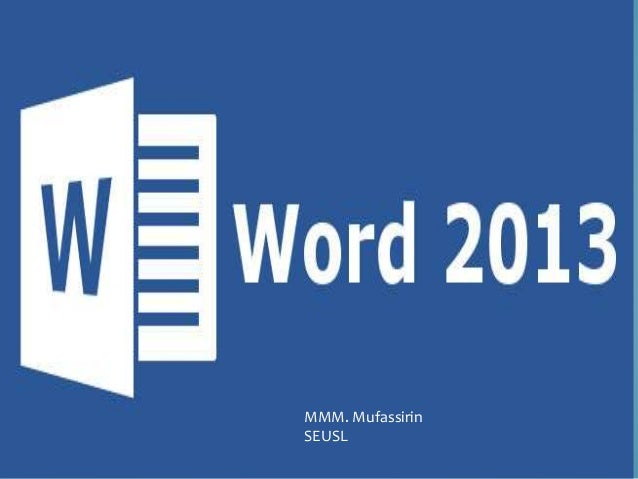 micro soft word 2013