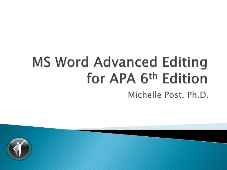 free apa template 6th edition - download apa 6th edition template word 2010 free software