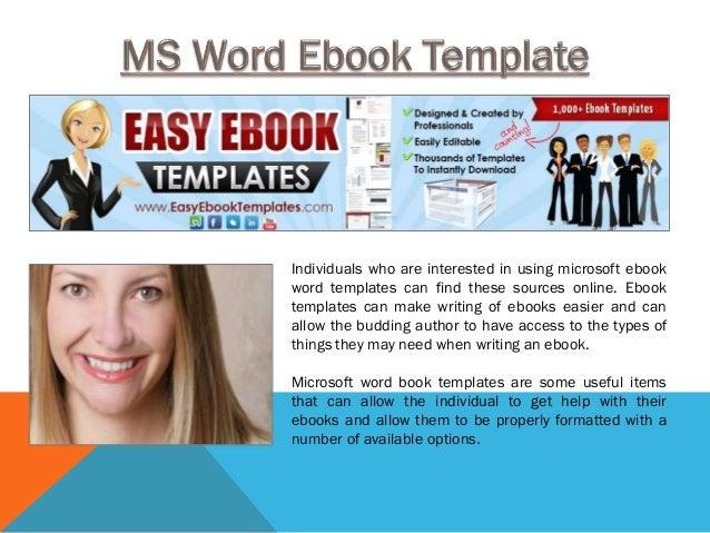 ms word ebook template. Black Bedroom Furniture Sets. Home Design Ideas